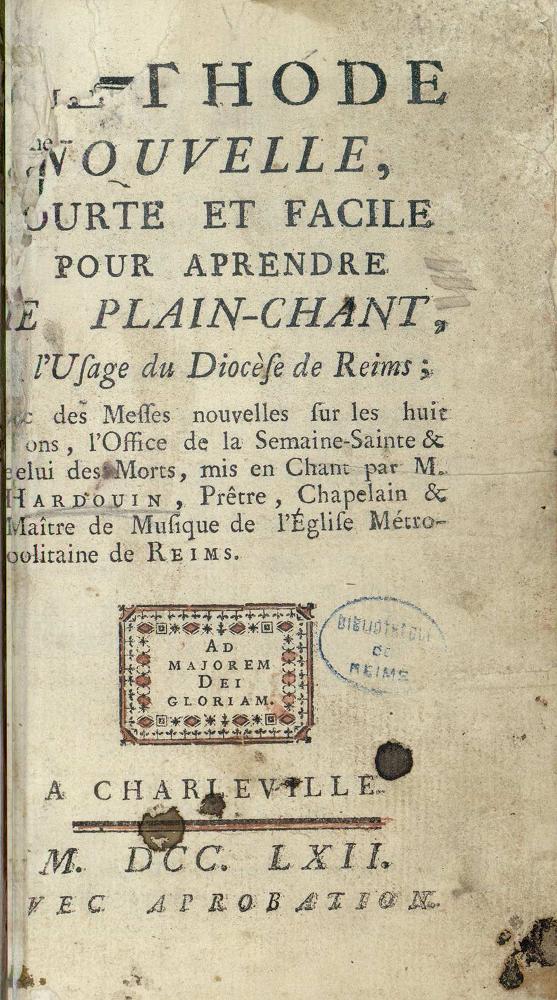 page de titre Hardouin (1762)