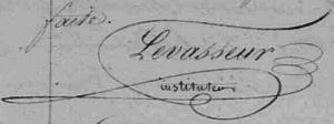 signature Levasseur