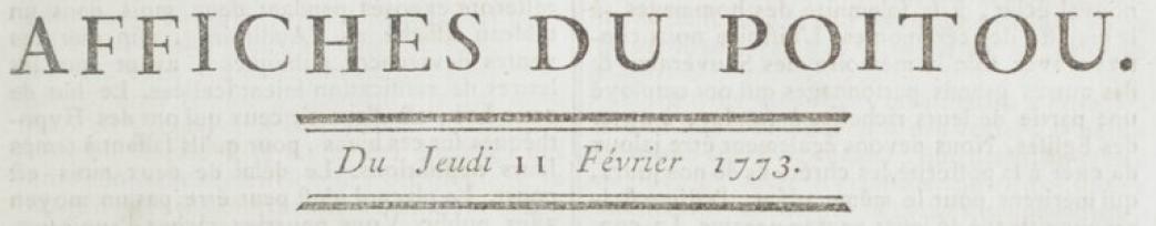 Titre Affiches du Poitou