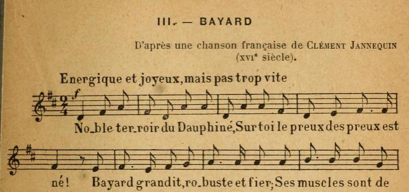 Bayard (Janequin-Tiersot)