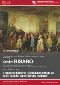 Il progetto di ricerca 'Cantus scholarum' (conférence – Padova, novembre 2016)