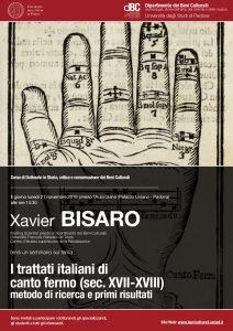 I trattati italiani di canto fermo (sec. XVII-XVIII): metodo di ricerca e primi risultati (conférence – Padova, novembre 2016)