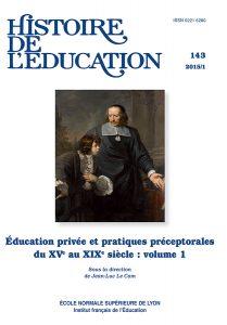 Histoire de l'éducation (nouvelle publication)