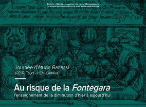 Au risque de la <i>Fontegara</i> (journée d'étude – octobre 2017)