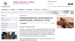 Los cantores olvidados del siglo XVIII (conférence – Valladolid, octobre 2017)